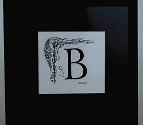 Letter B -detail