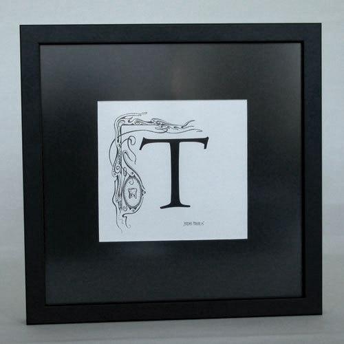 Letter T -detail