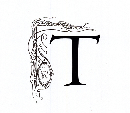Letter T (Original drawing from the book The Dentist and The Toothfairy by TAOH)